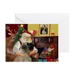 Santa's Bull Mastiff #4 Greeting Cards (Pk of 10)