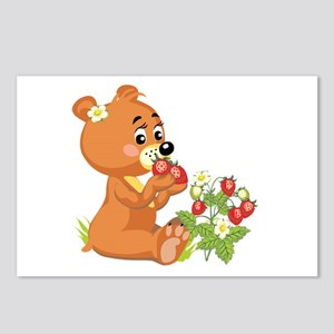 Strawberry Teddy Postcards (Package of 8)