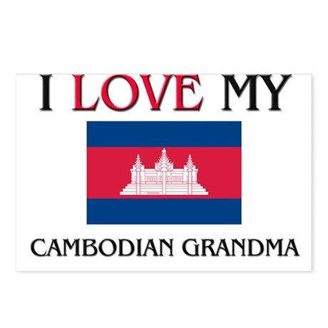 I Love My Cambodian Grandma Postcards (Package of