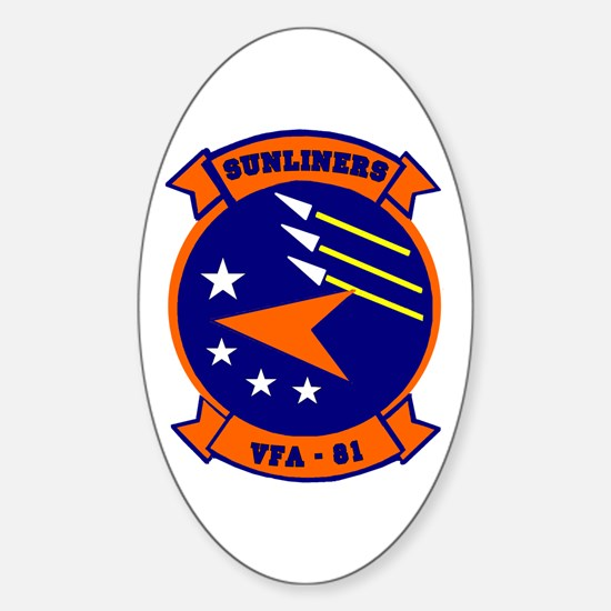 VFA 81 Sunliners Oval Decal