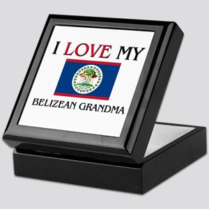 I Love My Belizean Grandma Keepsake Box