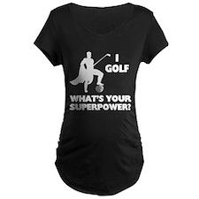 Golf Superhero Maternity Dark T-Shirt