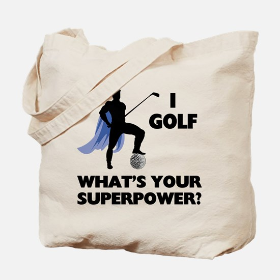 Golf Superhero Tote Bag