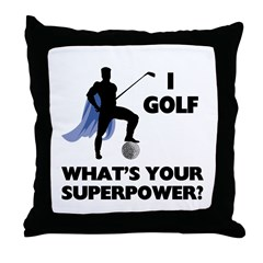 Golf Superhero Throw Pillow