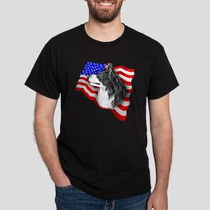 Border Collie BW Patriot Dark T-Shirt