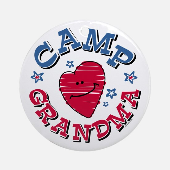 Camp Grandma Ornament (Round)