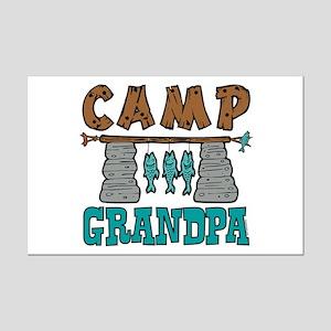 Camp Grandpa Mini Poster Print