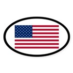 American Flag Oval Sticker (10 pk)
