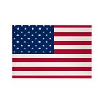 American Flag Rectangle Magnet (100 pack)