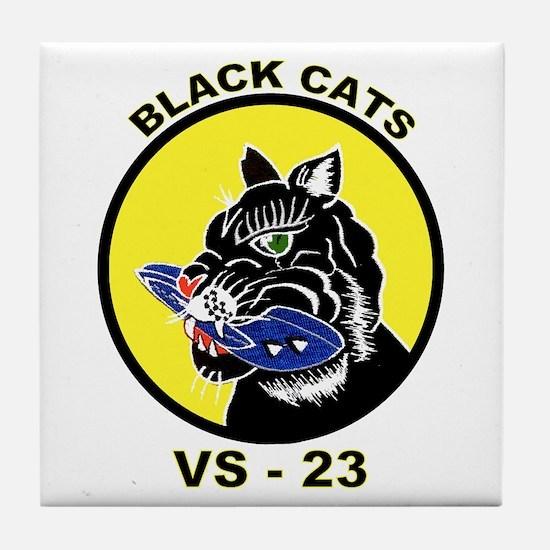 VS 23 Black Cats Tile Coaster