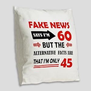 60th birthday designs Burlap Throw Pillow