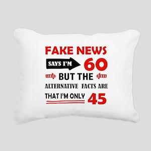 60th birthday designs Rectangular Canvas Pillow