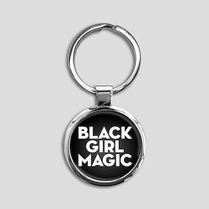 Black Girl Magic Round Keychain