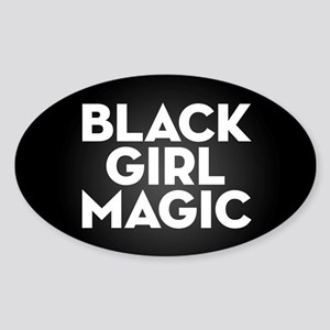 Black Girl Magic Sticker (Oval)