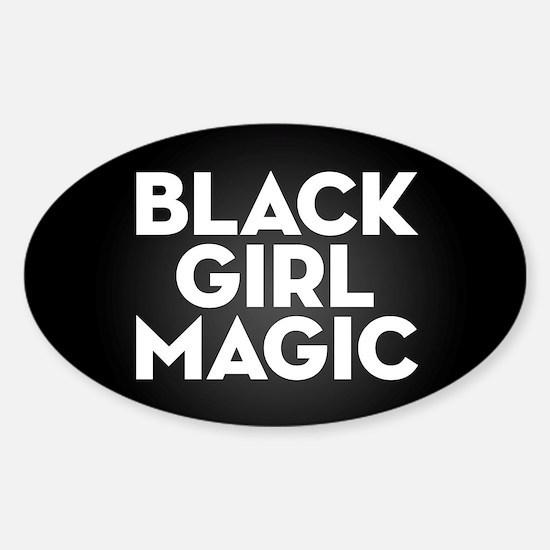 Black Girl Magic Sticker (Oval)