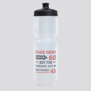 60th birthday designs Sports Bottle
