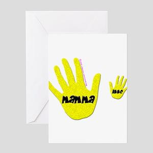 Mamma (hands) Greeting Card