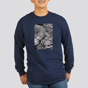 Komodo Dragon Long Sleeve Dark T-Shirt