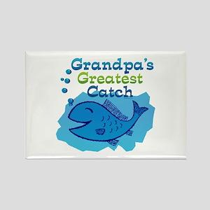 Grandpa's Greatest Catch Rectangle Magnet