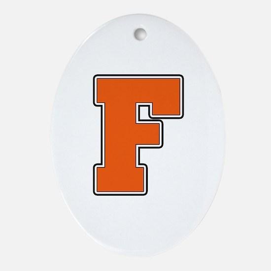 Fenton Block F Oval Ornament
