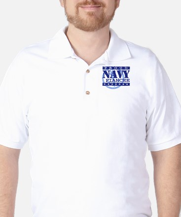Proud Navy Fiancee Golf Shirt