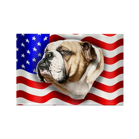Bulldog Patriot Rectangle Magnet