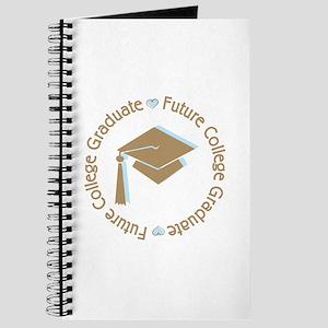 Cute Blue Future College Graduate Journal