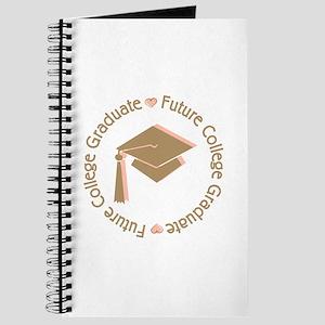 Cute Pink Future College Graduate Journal