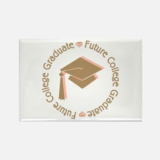 Cute Pink Future College Graduate Rectangle Magnet
