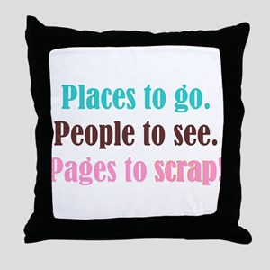 Pages to Scrap! Throw Pillow