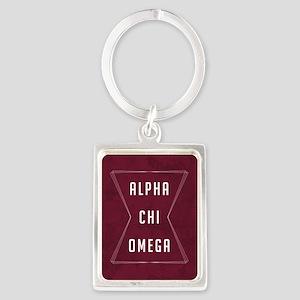 Alpha Chi Omega Geo Keychains