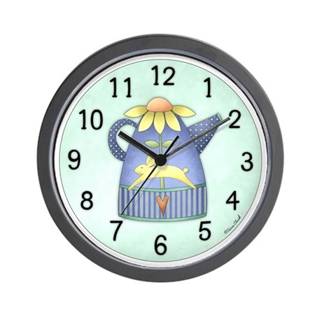Spring Watering Can Wall Clock
