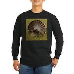 Turkey Fan Long Sleeve Dark T-Shirt