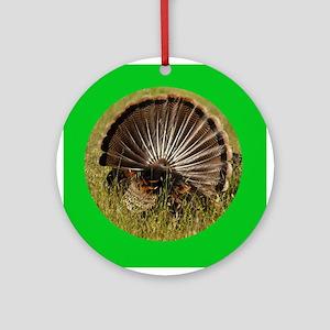 Turkey Fan Ornament (Round)