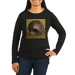 Turkey Fan Women's Long Sleeve Dark T-Shirt