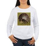 Turkey Fan Women's Long Sleeve T-Shirt