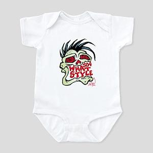 504 WHAT STYLE MOHAWK SKULL Infant Bodysuit