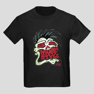 504 WHAT STYLE MOHAWK SKULL Kids Dark T-Shirt