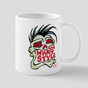 504 WHAT STYLE MOHAWK SKULL Mug