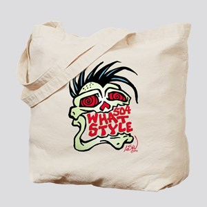 504 WHAT STYLE MOHAWK SKULL Tote Bag