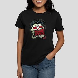 504 WHAT STYLE MOHAWK SKULL Women's Dark T-Shirt