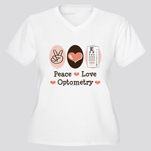 Peace Love Optometry Eye Chart Women's Plus Size V