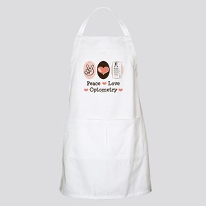 Peace Love Optometry Eye Chart BBQ Apron