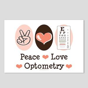 Peace Love Optometry Eye Chart Postcards 8 Pack