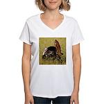 Big Tom Turkey Women's V-Neck T-Shirt
