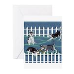 Siberian Husky Puppy Pen Greeting Cards (Pk of 20)