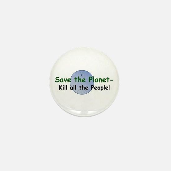 Cute Save whales Mini Button