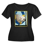 Bulldog Agility Design Women's Plus Size Scoop Nec