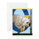 Bulldog Agility Design Greeting Cards (Pk of 20)