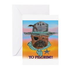Sherriff bulldog Greeting Cards (Pk of 20)